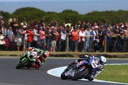 Sylvain Guintoli, Pata Yamaha und Tom Sykes, Kawasaki Racing Team