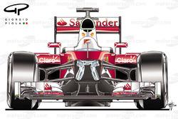 Ferrari SF16H, vista abierta