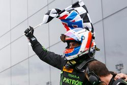 Race winner Pipo Derani, ESM Racing celebrates