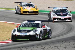 Moritz Sager, Dinamic Motorsport, leads Matteo Llarena, MRS GT-Racing, and Lucas Groeneveld, Team GP Elite