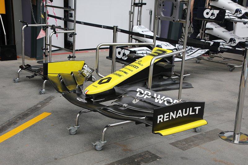 Renault F1 Team R.S.20 detalle del alerón delantero