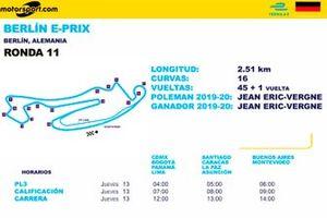 Horarios en Latinoamérica para el Berlín E-Prix Ronda 11