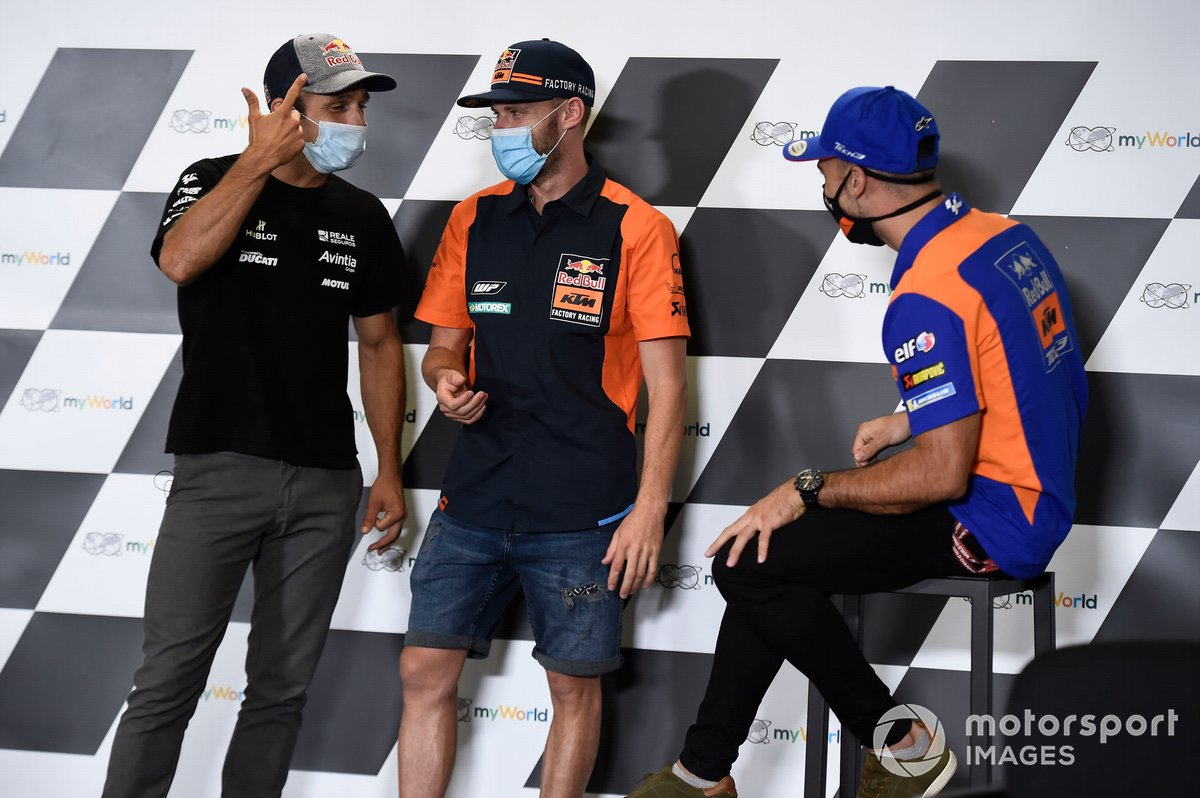 Johann Zarco, Avintia Racing, Brad Binder, Red Bull KTM Factory Racing, Miguel Oliveira, Red Bull KTM Tech 3