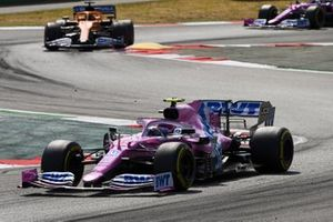 Lance Stroll, Racing Point RP20, Carlos Sainz Jr., McLaren MCL35, Sergio Perez, Racing Point RP20