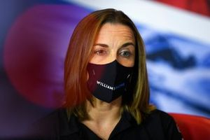Claire Williams, Deputy Team Principal, Williams Racing, in the team principals Press Conference