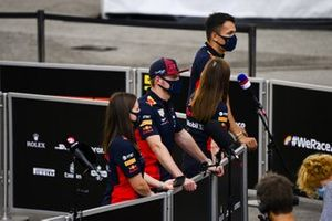 Max Verstappen, Red Bull Racing speaks to the media