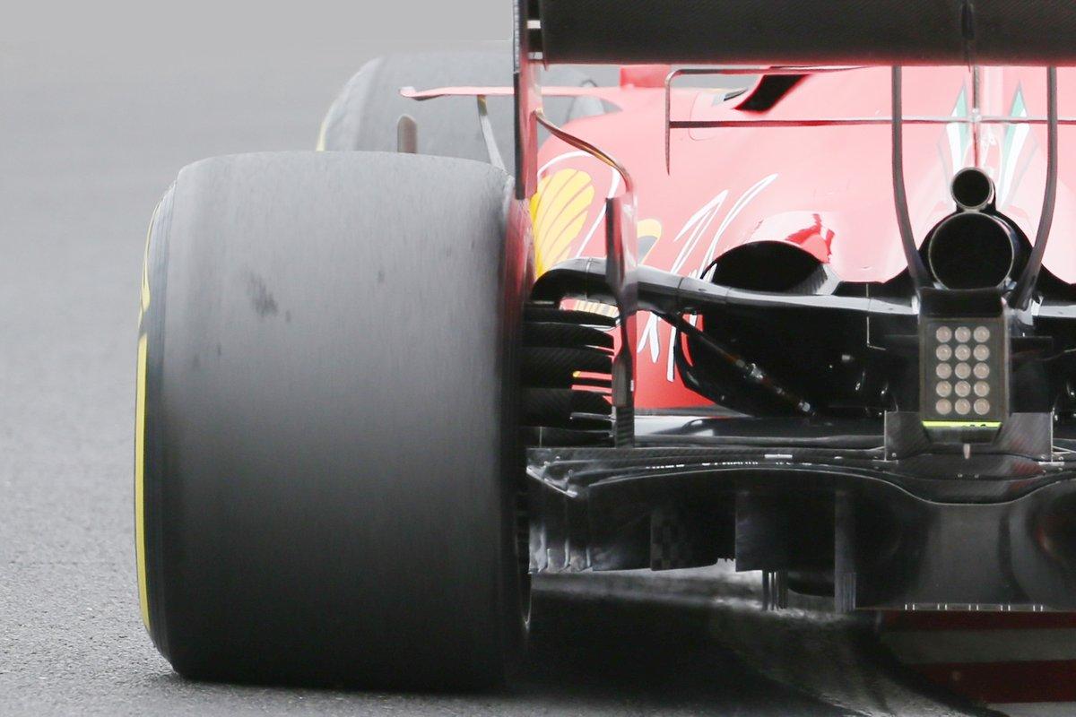 Il posteriore della Ferrari SF1000