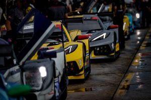 #3 Corvette Racing Corvette C8.R, GTLM: Antonio Garcia, Jordan Taylor, #4 Corvette Racing Corvette C8.R, GTLM: Oliver Gavin, Tommy Milner.