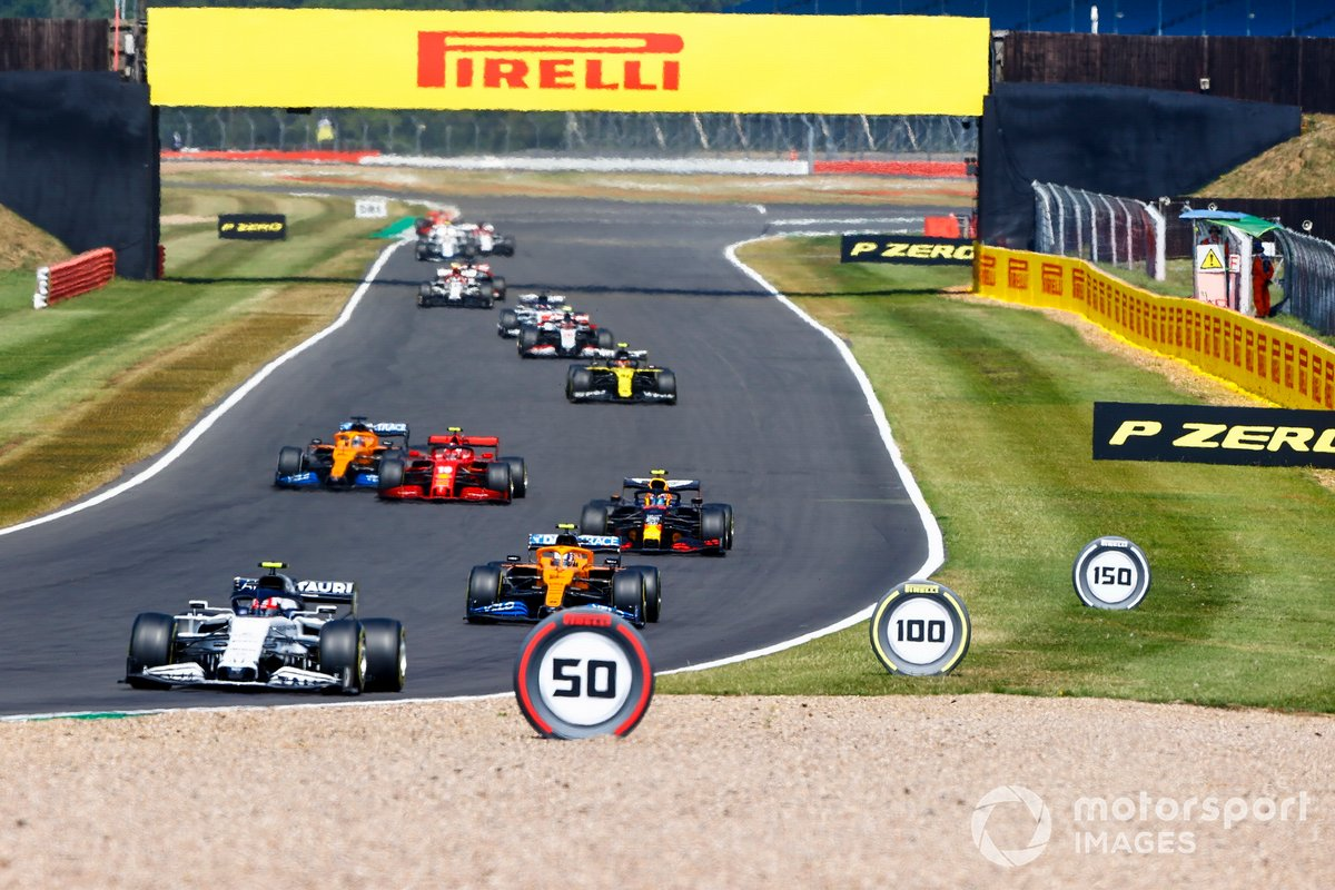 Pierre Gasly, AlphaTauri AT01, Lando Norris, McLaren MCL35, Alex Albon, Red Bull Racing RB16, Charles Leclerc, Ferrari SF1000, Lando Norris, McLaren MCL35