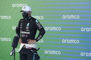 Valtteri Bottas, Mercedes-AMG Petronas F1, is interviewed after Qualifying