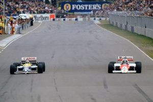Nelson Piquet, Williams FW11, Keke Rosberg, McLaren MP4/2C
