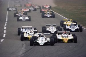 Start zum GP Deutschland 1980 in Hockenheim: Alan Jones, Williams FW07B, führt