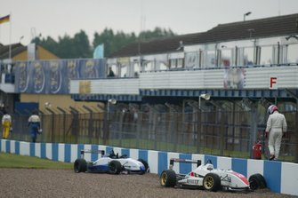 Will Power, Lucas di Grassi and Marko Asmer walk back