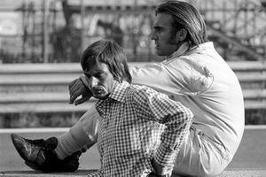 Brabham boss Bernie Ecclestone and Carlos Reutemann. Brabham