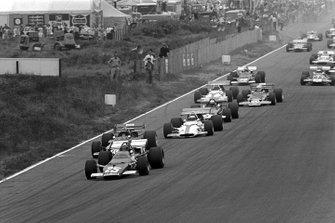 Start zum GP Niederlande 1970 in Zandvoort: Jacky Ickx, Ferrari 312B, führt