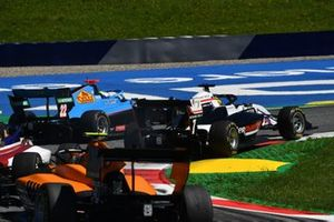 Matteo Nannini, Jenzer Motorsport, leads Theo Pourchaire, ART Grand Prix, and Alessio Deledda, Campos Racing