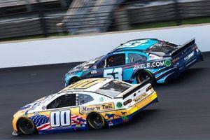 Quin Houff, StarCom Racing, Chevrolet Camaro Mane 'n Tail , Garrett Smithley, Rick Ware Racing, Chevrolet Camaro