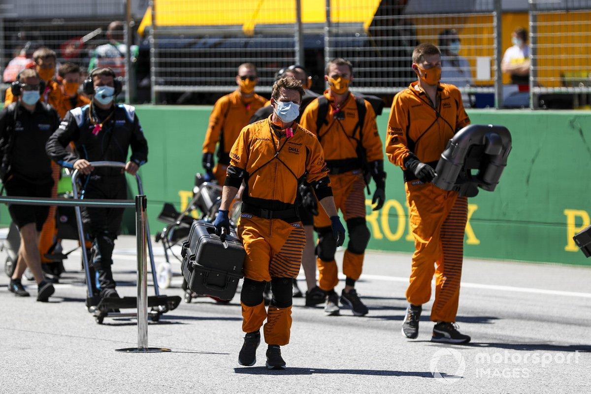 La mecánicos de McLaren