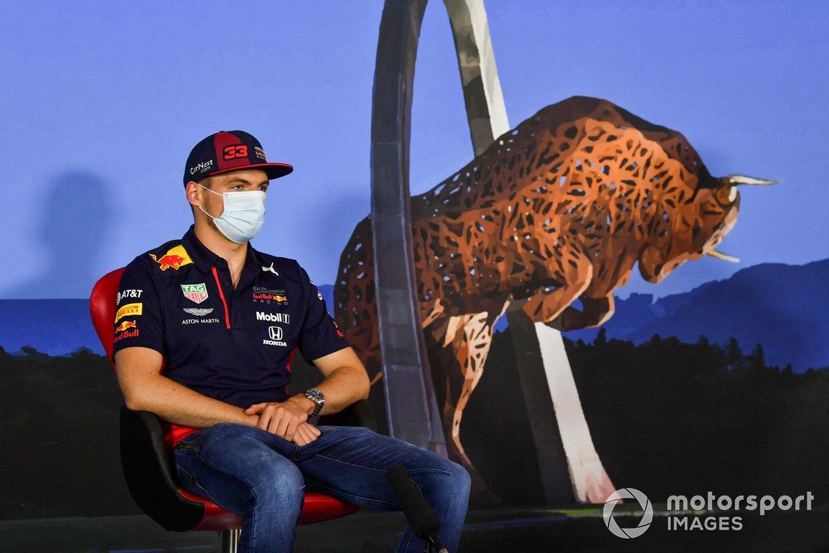 Max Verstappen, Red Bull Racing durante la conferenza stampa