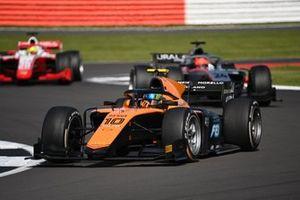 Guilherme Samaia, Campos Racing, leads Nikita Mazepin, Hitech Grand Prix