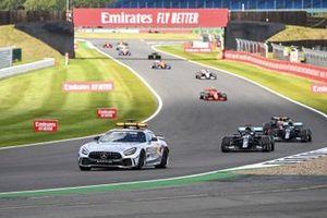 Safety Car Lewis Hamilton, Mercedes F1 W11 and Valtteri Bottas, Mercedes F1 W11