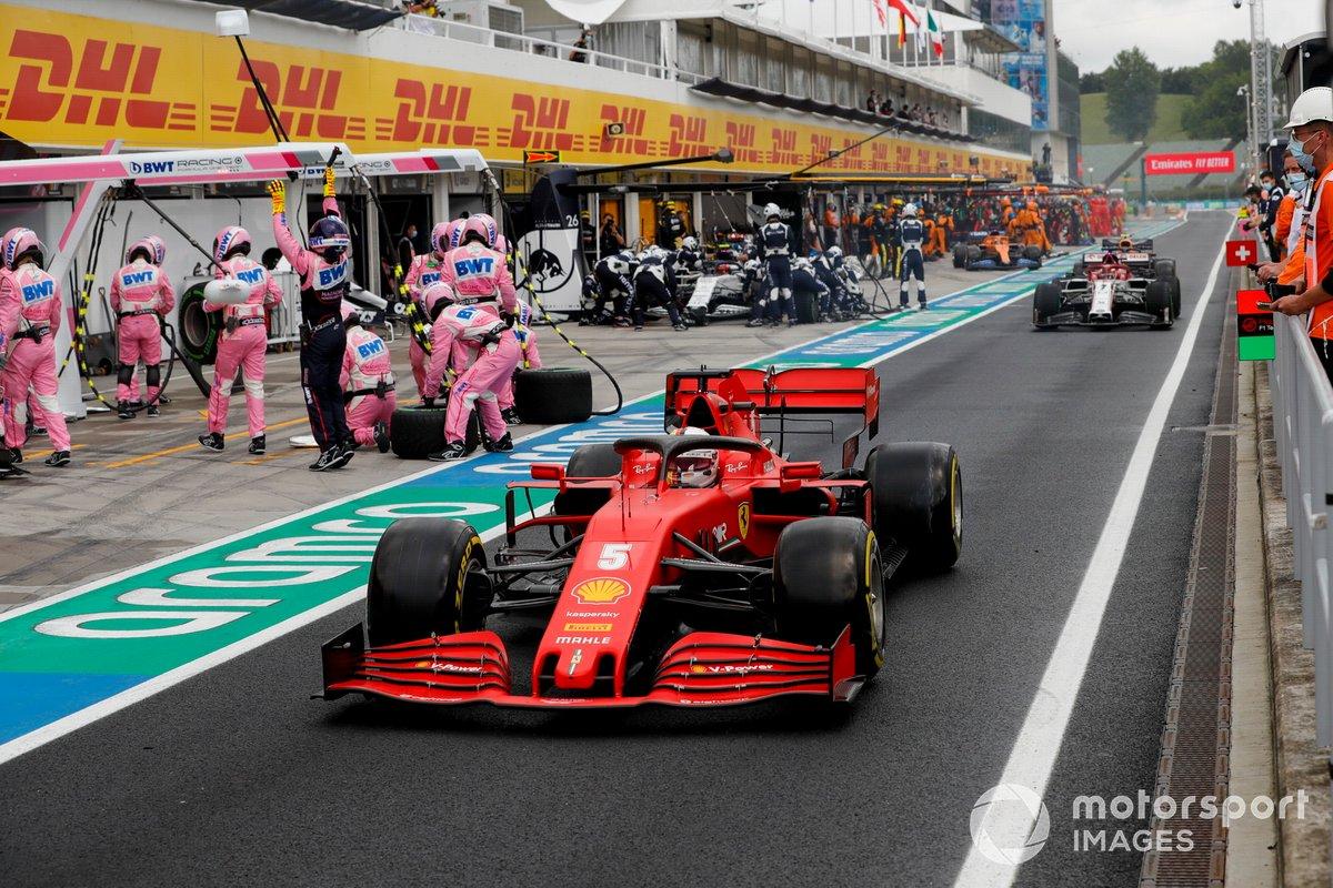 Sebastian Vettel, Ferrari SF1000, sale de pits