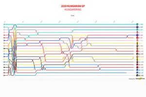 F1 Hungarian GP 2020 Visualization Timeline