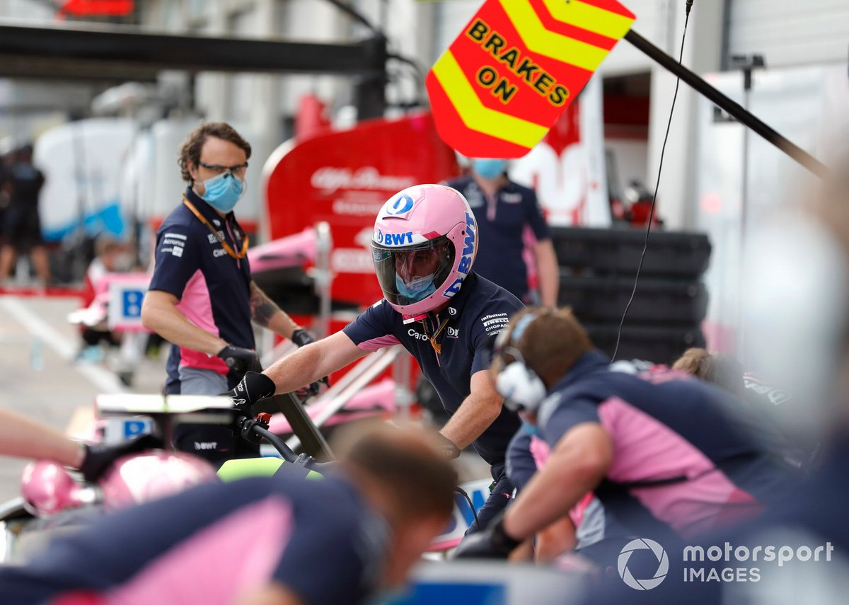 Racing Point practica los pitstops