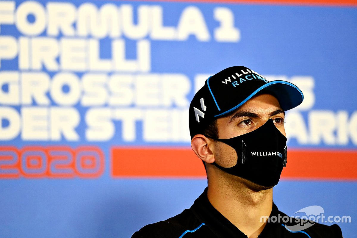 Nicholas Latifi, Williams Racing in conferenza stampa