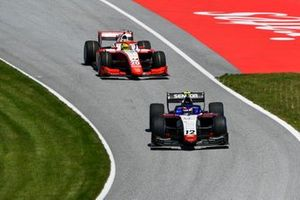 Pedro Piquet, Charouz Racing System, leads Mick Schumacher, Prema Racing