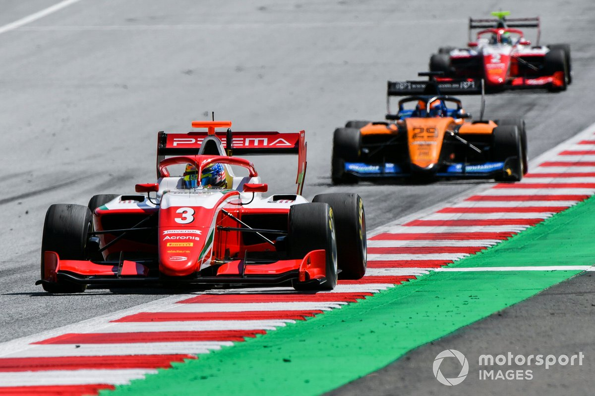 Logan Sargeant, Prema Racing, Alexander Peroni, Campos Racing e Frederik Vesti, Prema Racing