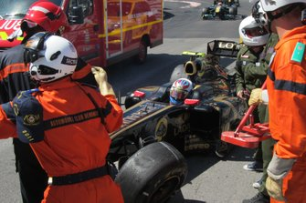 Vitaly Petrov, Lotus Renault GP R31 después del accidente