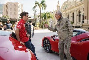 Claude Lelouch y Charles Leclerc, Ferrari