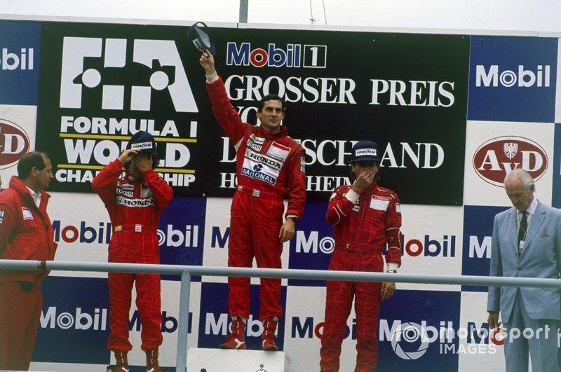 Ayrton Senna, McLaren, Ron Dennis, McLaren, Alain Prost, McLaren, Gerhard Berger, Ferrari, GP di Germania del 1988