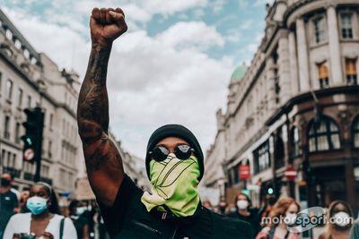 Hamilton alla manifestazione Black Lives Matter
