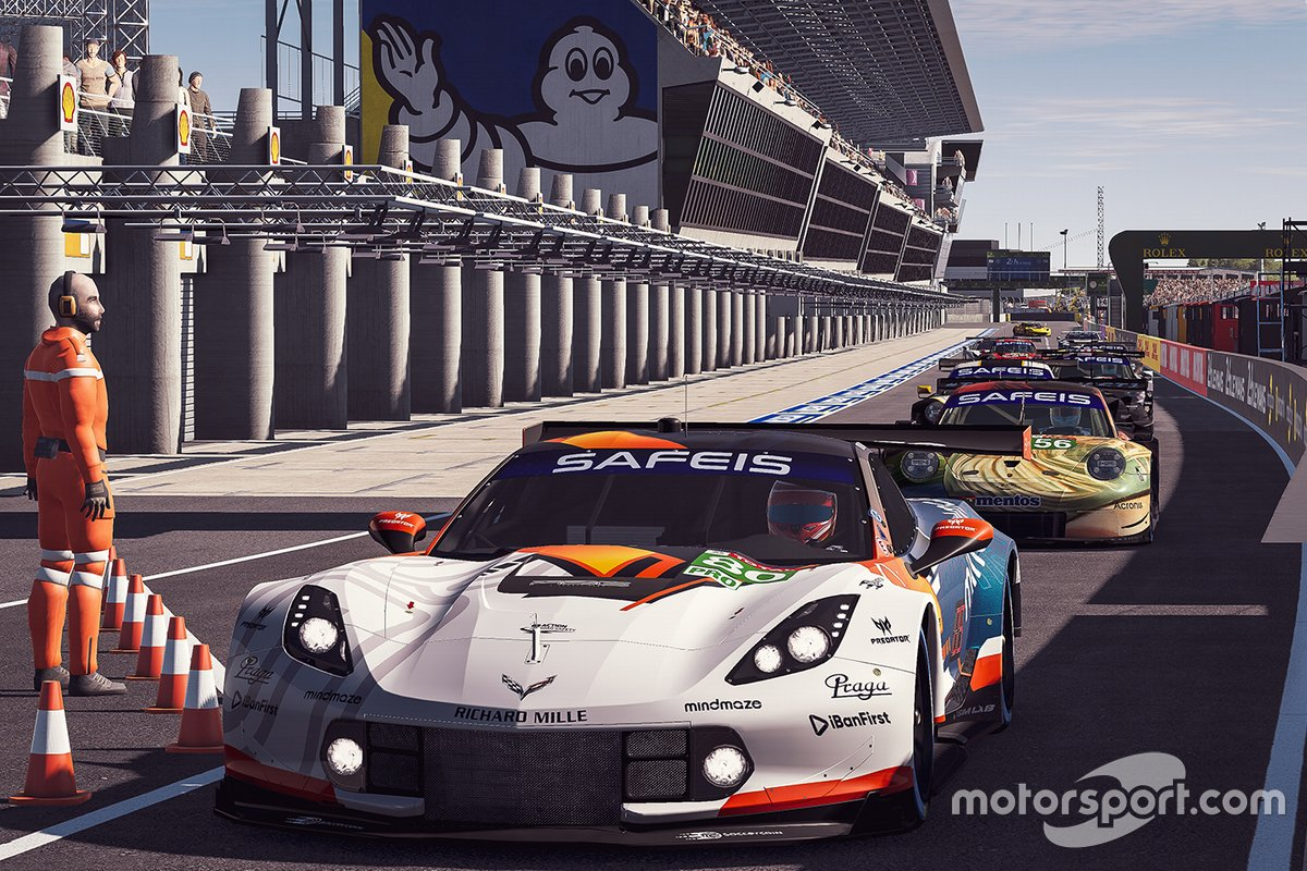 #80 R8G Esports Team Corvette C7.R: Daniel Juncadella, Mathias Beche, Erhan Jajovski, Risto Kappet