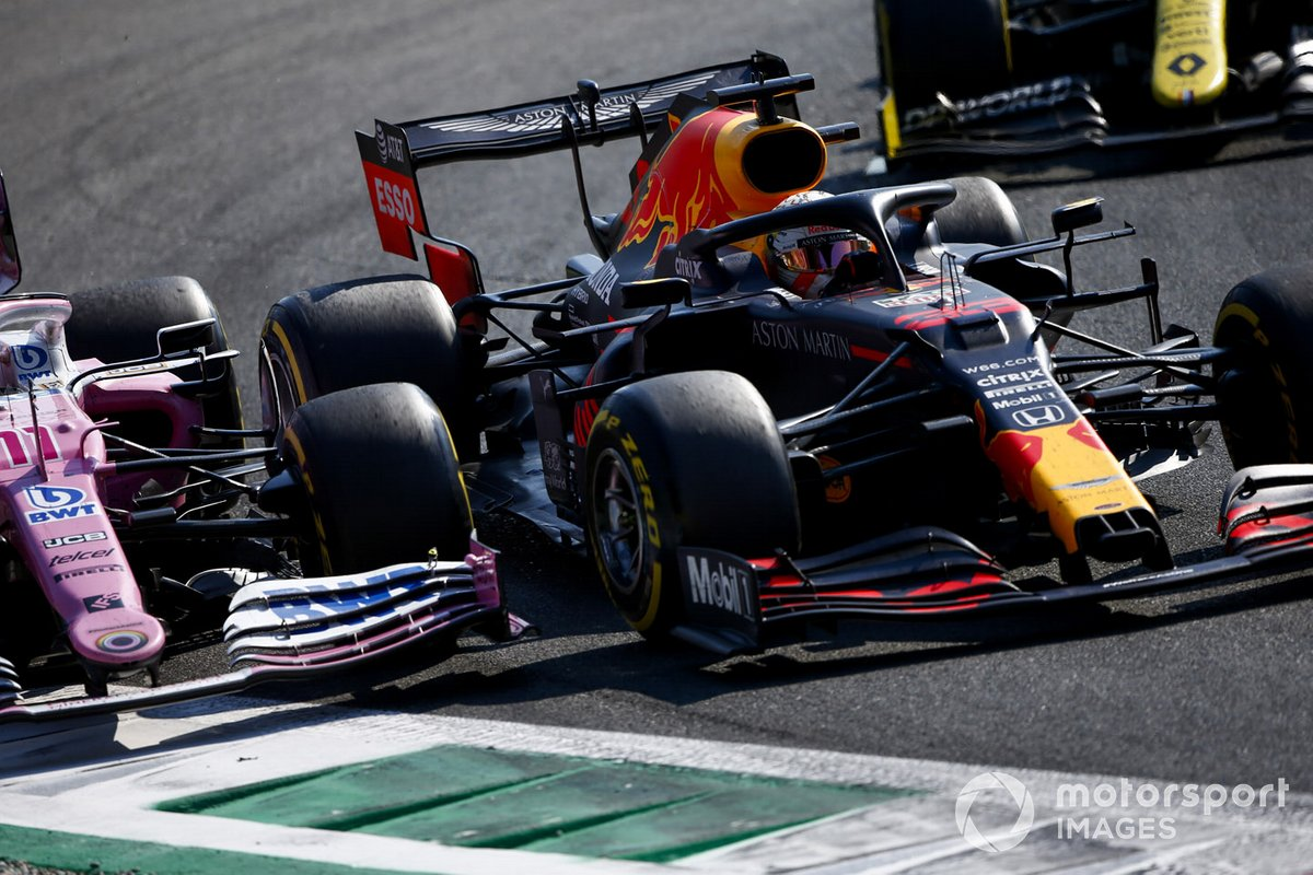 Max Verstappen, Red Bull Racing RB16, Sergio Pérez, Racing Point RP20