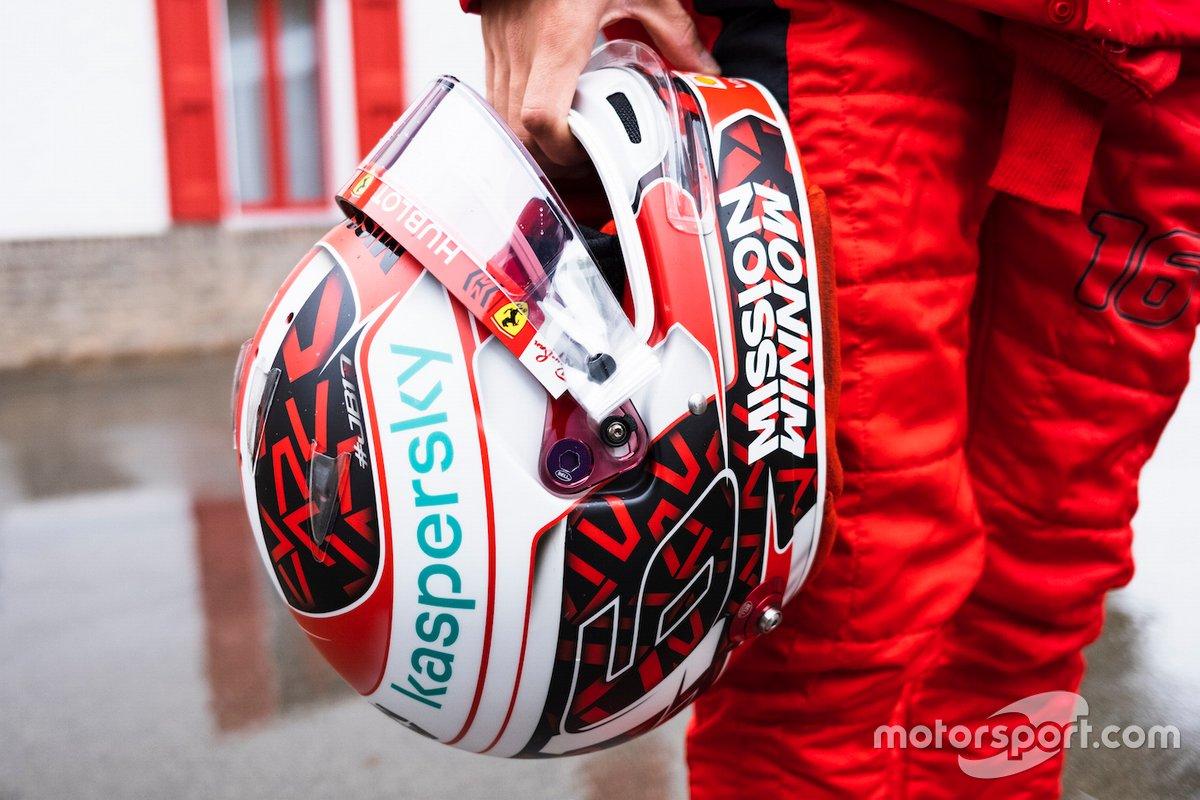 Il casco di Charles Leclerc, Scuderia Ferrari