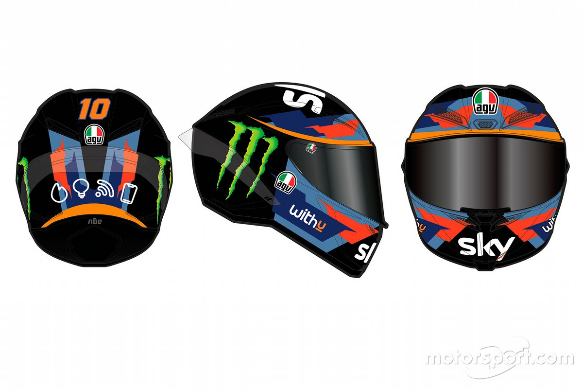 Livrea del casco Sky Racing Team VR46