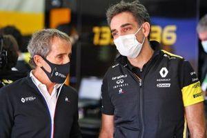 Alain Prost, Renault F1 Team Fahri Direktörü ve Cyril Abiteboul, Renault Sport F1 Direktörü