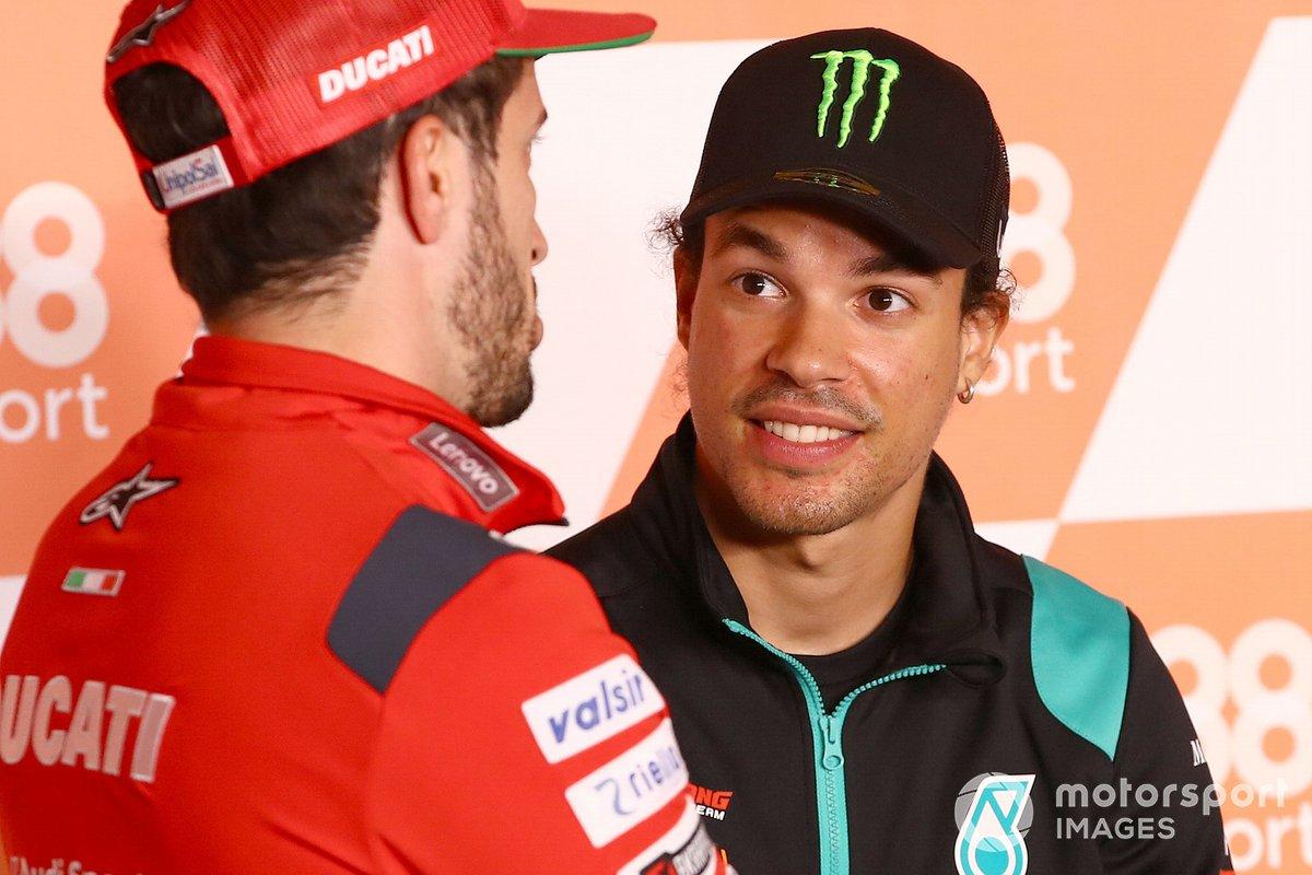 Andrea Dovizioso, Ducati Team, Franco Morbidelli, Petronas Yamaha SRT