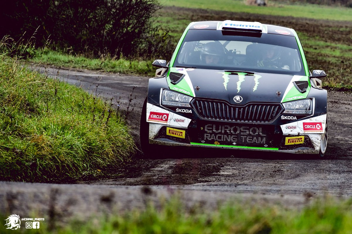 Oliver Solberg, Aaron Johnston, Eurosol Racing Team, Skoda Fabia Rally2 Evo