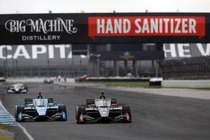 Max Chilton, Carlin Chevrolet, Sebastien Bourdais, A.J. Foyt Enterprises Chevrolet