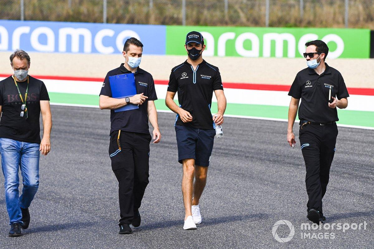 Nicholas Latifi, Williams Racing cammina in pista