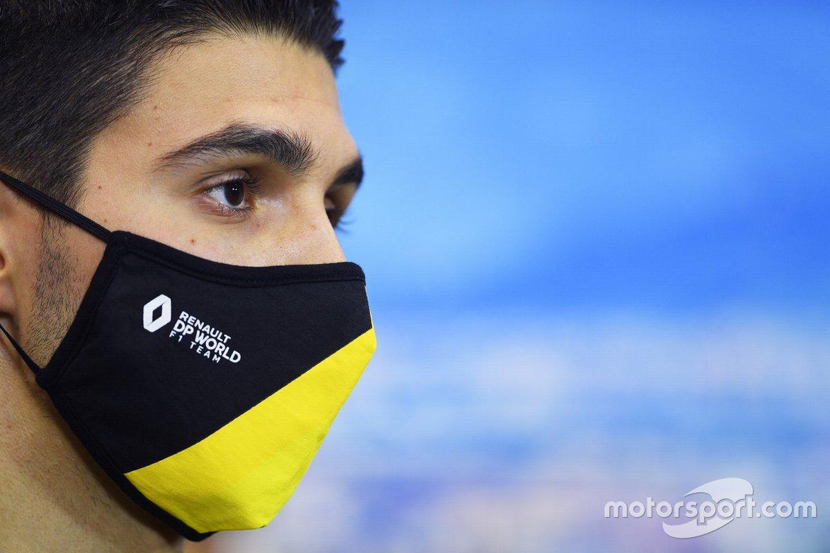 Esteban Ocon, Renault F1en la conferencia de prensa