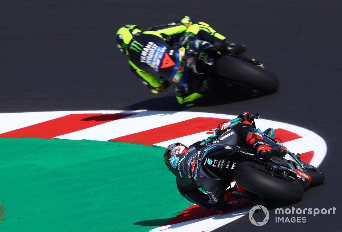 Valentino Rossi, Yamaha Factory Racing Fabio Quartararo, Petronas Yamaha SRT