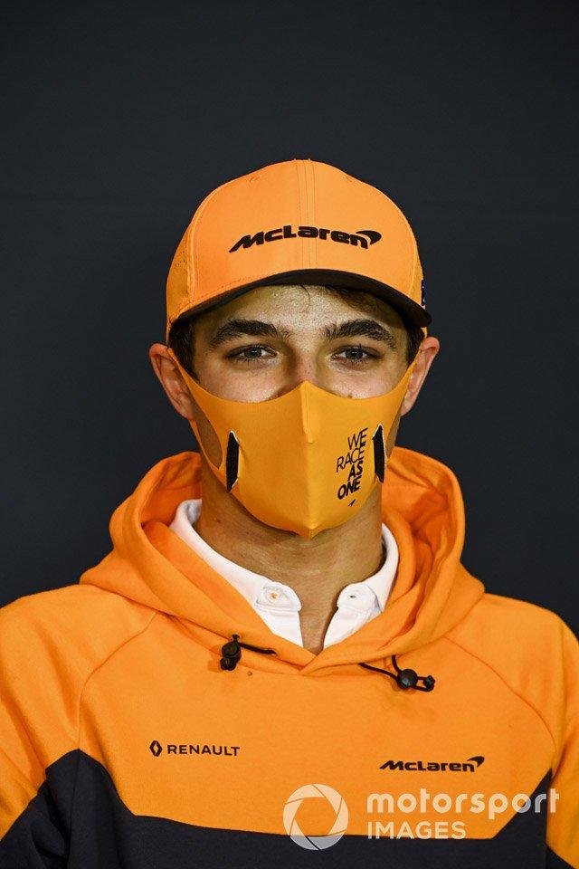 Lando Norris, McLaren, en la conferencia de prensa