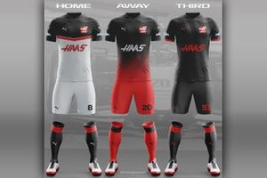 HAAS F1 football team kit