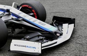 Front wing on the car of Nicholas Latifi, Williams FW43