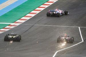 Lance Stroll, Racing Point RP20, Alex Albon, Red Bull Racing RB16, amd Esteban Ocon, Renault F1 Team R.S.20